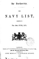 download ebook the navy  list, correoted to the 20th june ,1872 pdf epub