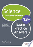 Science for Common Entrance 13  Exam Practice Answers