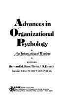 Advances in organizational psychology