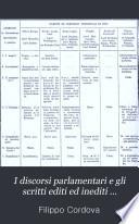I discorsi parlamentari e gli scritti editi ed inediti preceduti dai ricordi della sua vita