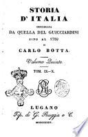 Storia d'Italia continuata da quella del Guicciardini sino al 1789 di Carlo Botta