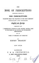The Book of Prescriptions