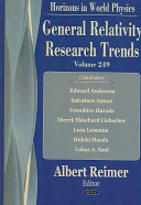 General Relativity Research Trends