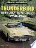 Thunderbird Restoration Guide  1958 1966