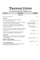 Transactions : the Tennessee journal of business law
