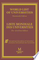World List Of Universities Liste Mondiale Des Universites