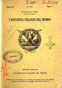 L industria italiana del freddo periodico mensile  scientifico  tecnico  economico  sindacale