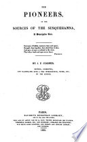 The pioneers, or the Sources of the Susquehanna Pdf/ePub eBook