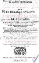 Le grand dictionnaire historique, ... par l'abbé Louis Moreri