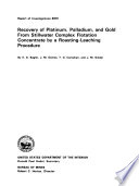 Recovery of Platinum, Palladium, and Gold from Stillwater Complex Flotation Concentrate by a Roasting-leaching Procedure