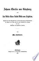 Johann Eberlin von Günzburg und sein vetter Hans Jakob Wehe von Leipheim