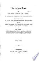 Die Algenflora des mittleren Theiles von Franken (des Keupergebietes mit den angrenzenden Partien des jurassischen Gebietes), enthaltend die vom Autor bis jetzt in diesen Gebieten beobachteten Süsswasseralgen ...