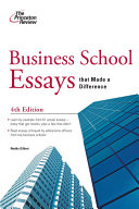 Business School Essays that Made a Difference  4th Edition