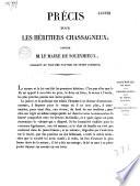 Précis pour les héritiers Chassagneux, contre M. le maire de Soleymieux...