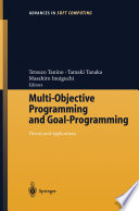 Multi Objective Programming And Goal Programming book