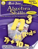 Math Tutor  Mastering Algebra Skills  Grades 4   12