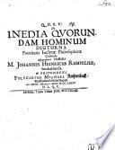 De inedia quorundam hominum diuturna
