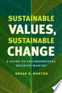 Sustainable Values Sustainable Change