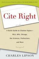 Cite Right