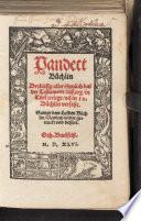 Pandect-Büchlin