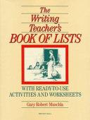 The Writing Teacher s Book Of Lists