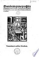 Duodecim principia Philosophiae Raemundi Lulli