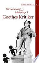 Goethes Kritiker