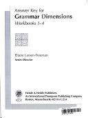 Answer Key for Grammar Dimensions Workbook 1 4