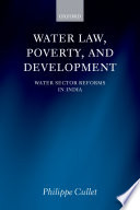 Water Law  Poverty  and Development