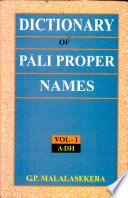 Dictionary of P  li Proper Names  A Dh