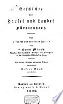 Geschichte des Hauses und Landes Fürstenbergs