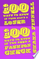 100 Ways to Know If Your Man s A Loser  100 Ways to Know If You Need a Fashion Check