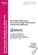 Ultra High Performance Concrete and High Performance Construction Materials