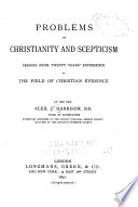 Problems of Christianity and Scepticism