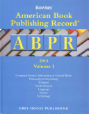 American Book Publishing Record Annual 2 Vol Set  2014  2 Volume Set