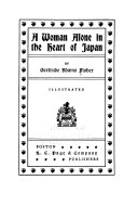 Ebook A Woman Alone in the Heart of Japan Epub Gertrude Adams Fisher Apps Read Mobile