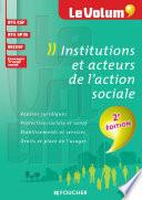 Institutions et acteurs de l action sociale 2e   dition   Le Volum