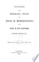 Journals of the Honorable Senate and House of Representatives     Book PDF