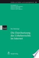 Die Durchsetzung Des Urheberrechts Im Internet