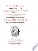 Storia polemica delle proibizioni de libri
