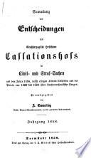 Sammlung der Entscheidungen des Großherzoglich Hessischen Cassationshofs in Civil- und Strafsachen