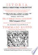 Istoria degli scrittori fiorentini