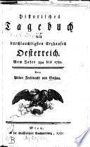 Historisches Tagebuch des durchlauchtigsten Erzhauses Oesterreich