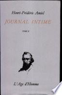 Journal intime: Janvier 1852-mars 1856