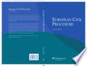 European Civil Procedure