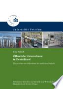 Öffentliche Unternehmen in Deutschland : eine Analyse von Mikrodaten der amtlichen Statistik