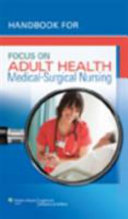 Handbook For Focus On Adult Health