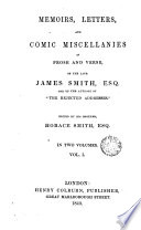 download ebook memoirs, letters and comic miscellanies in prose and verse of the late james smith esq. one of the authors of ,1 pdf epub
