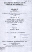 108 1 Hearing  Global Trends in Trafficking and The  Trafficking in Persons Report   June 25  2003