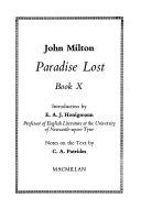 Paradise Lost  Book 10 Book PDF